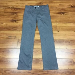 Betabrand Herringbone Pull on Dress Pants in Gray